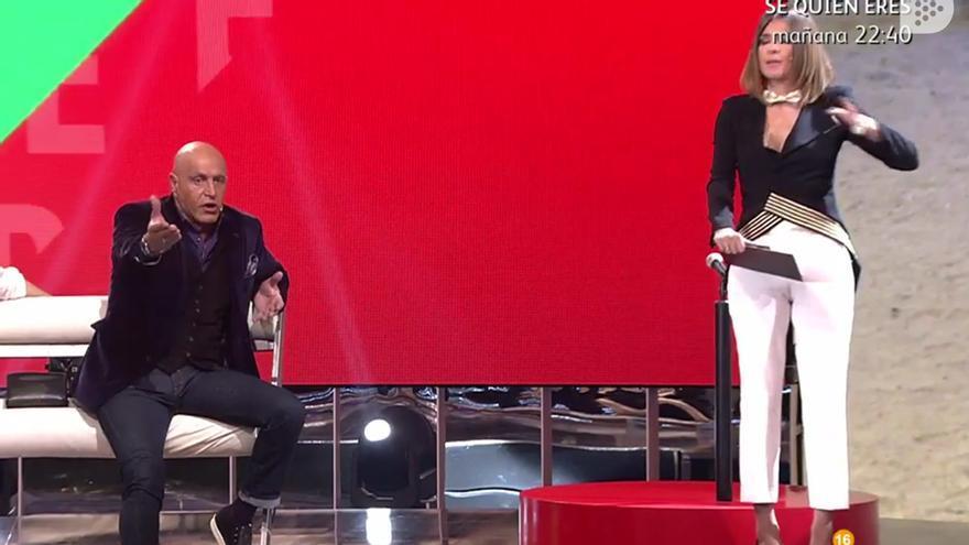 Sandra Barneda a Kiko Matamoros: 'Tu comentario del lubricante me parece de mal gusto'