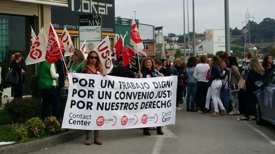 Más del 40% de los trabajadores de telemarketing secunda en Cantabria los paros por el nuevo convenio, según sindicatos