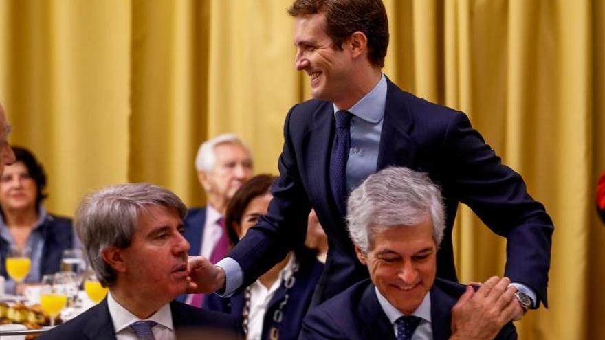 El líder del PP, Pablo Casado, este lunes.