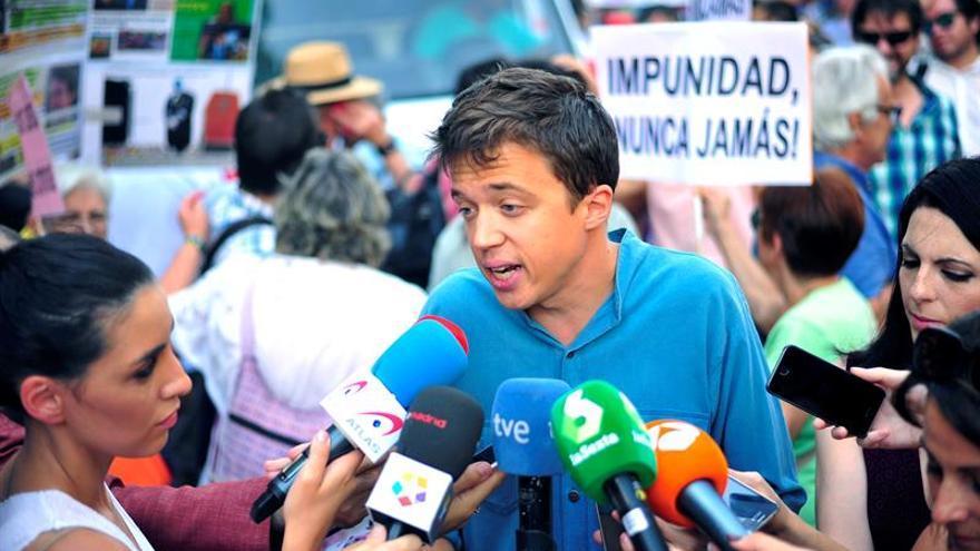 Errejón dice que Podemos y Podem Catalunya apoyan la misma solución