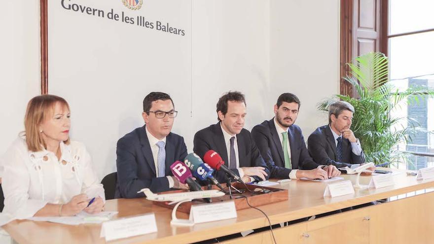 Rueda de prensa celebrada en Mallorca.
