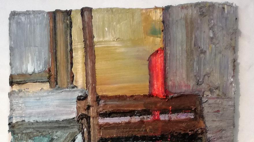 'Duggi 36', obra del pintor tinerfeño Santiago Palenzuela colgada en la Galería Artizar