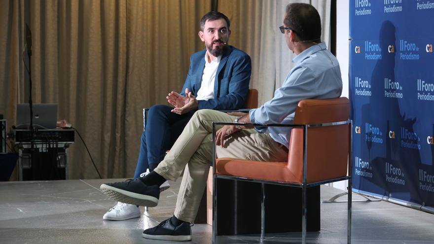 Ignacio Escolar debate con David Jiménez en el II Foro de Periodismo de Canarias Ahora