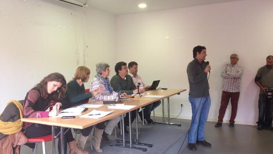 Participante en la asamblea fundacional de Ganemos Castilla-La Mancha / Foto: Javier Robla
