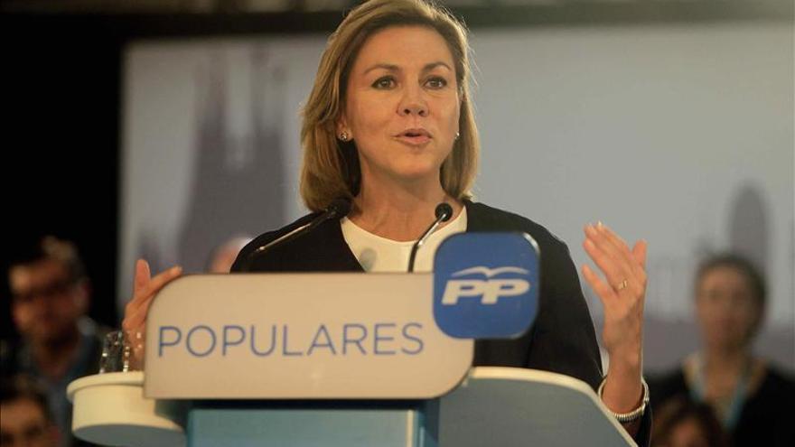 Cospedal no descarta pactar con el PSOE si el PP no tiene mayoría