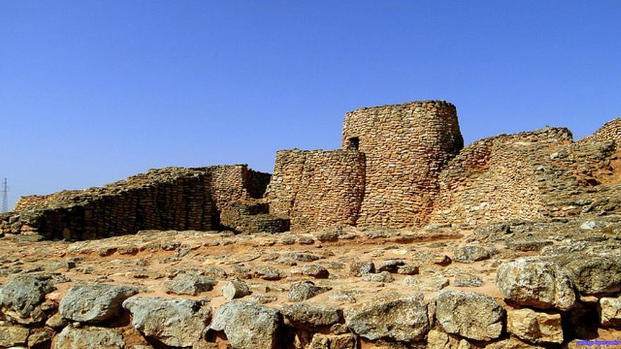 Yacimiento de Motilla de Azuer, en Daimiel. Este granero fortificado data de la Edad del Bronce. Santiago López Pastor