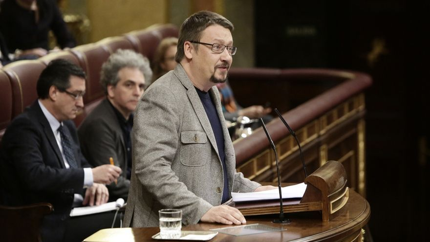 """Domènech (ECP) ve en su candidatura a presidir el Congreso de los Diputados """"la única alternativa"""" a la derecha"""