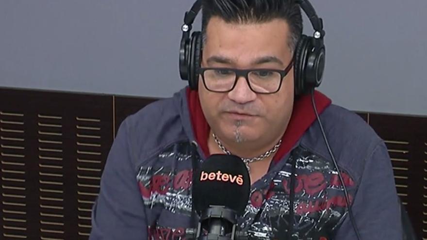 Sicus Carbonell, durante la entrevista en Betevé