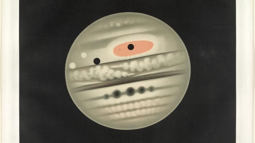 El planeta Júpiter observado el 1 de noviembre de 1880