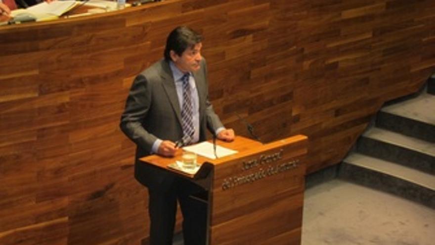 Javier Fernández (PSOE), En El Pleno De Elección Del Presidente Del Principado