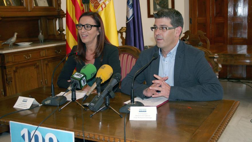El presidente, Jorge Rodríguez, y la vicepresidenta, Maria Josep Amigó, de la Diputación de Valencia