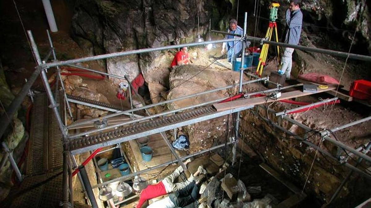 Excavación de El Mirón.