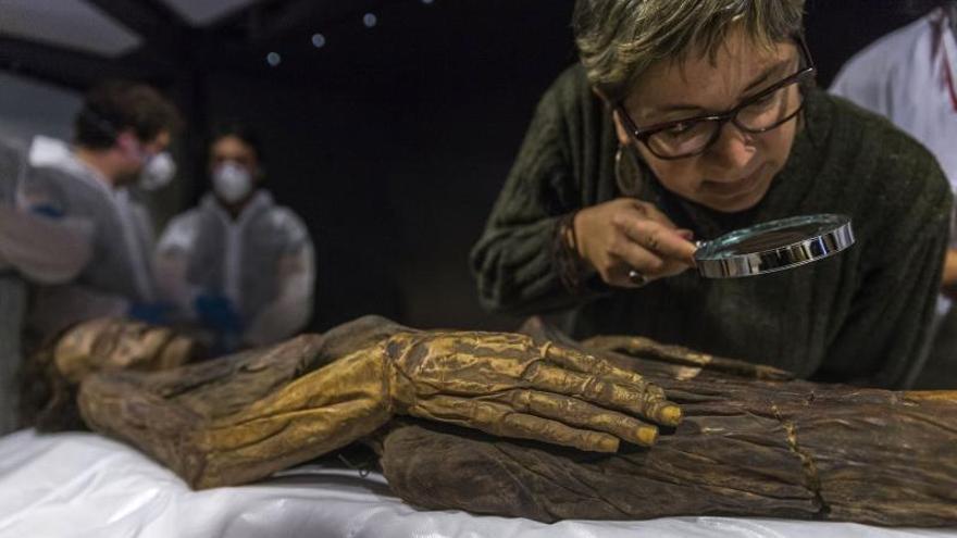 La momia guanche mejor conservada, en el Museo Arqueológico Nacional