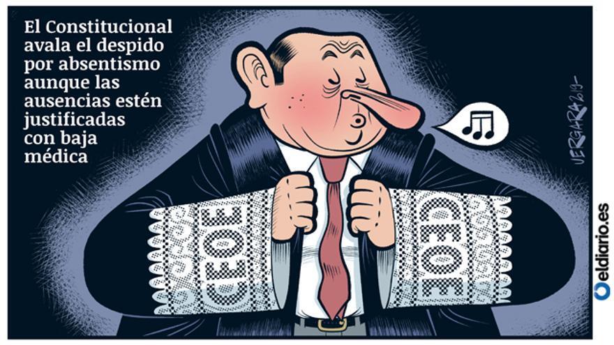 Resultado de imagen de El Constitucional avala el despido por absentismo aunque las ausencias estén justificadas con baja médica