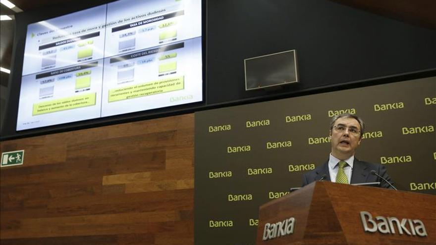 Bankia gana 855 millones, un 7,3 % más, y cumple ya su plan estratégico