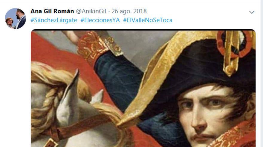 Tuit contra la exhumación de Franco y #ElValleNoSeToca.
