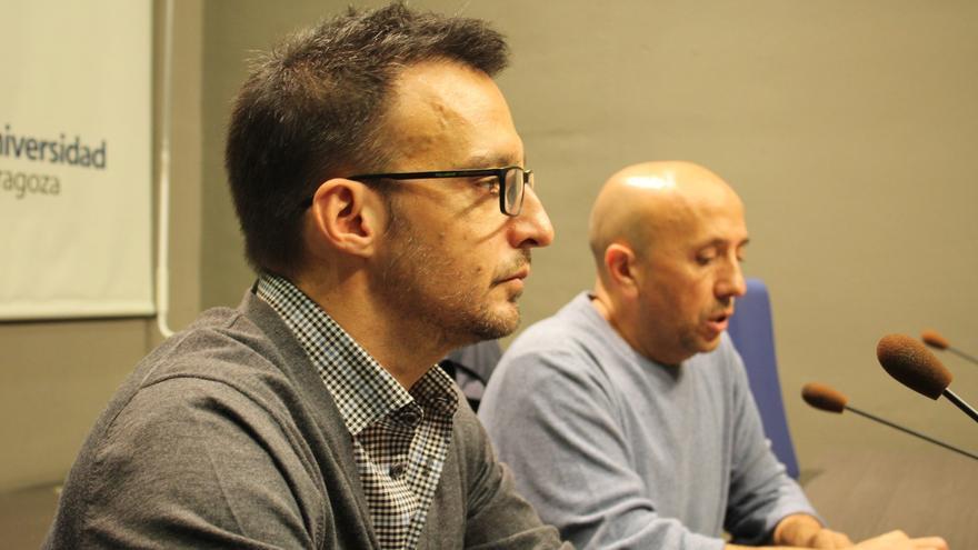 El director de cine Alejandro Amenabar, en el ciclo La Buena Estrella celebrado esta tarde en el Edificio Paraninfo de la Universidad de Zaragoza