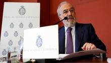 Santiago Muñoz Machado, en la presentación del informe en la sede de la RAE este lunes.
