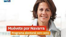 Portada del programa electoral de UPN para esta legislatura.