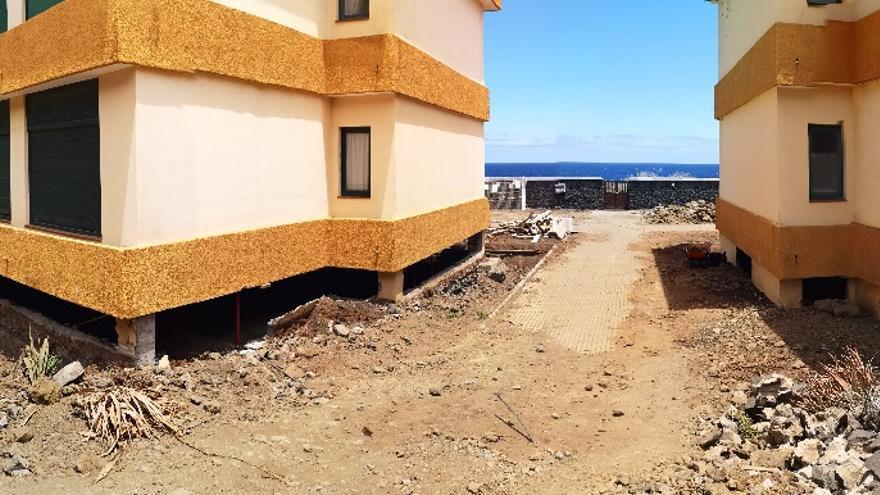 Obras de rehabilitación en la urbanización Breñamar.