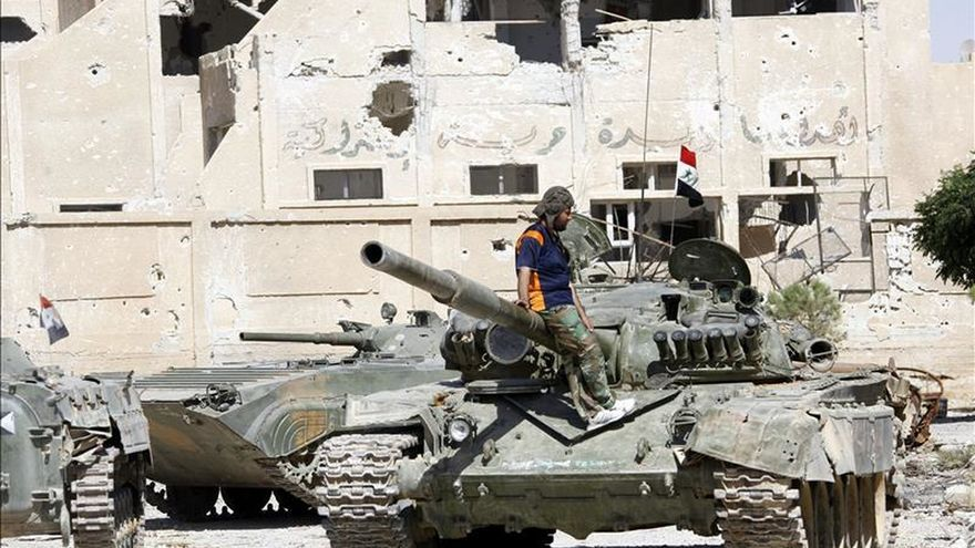 El ejército sirio recupera el control de una base aérea en afueras de Damasco