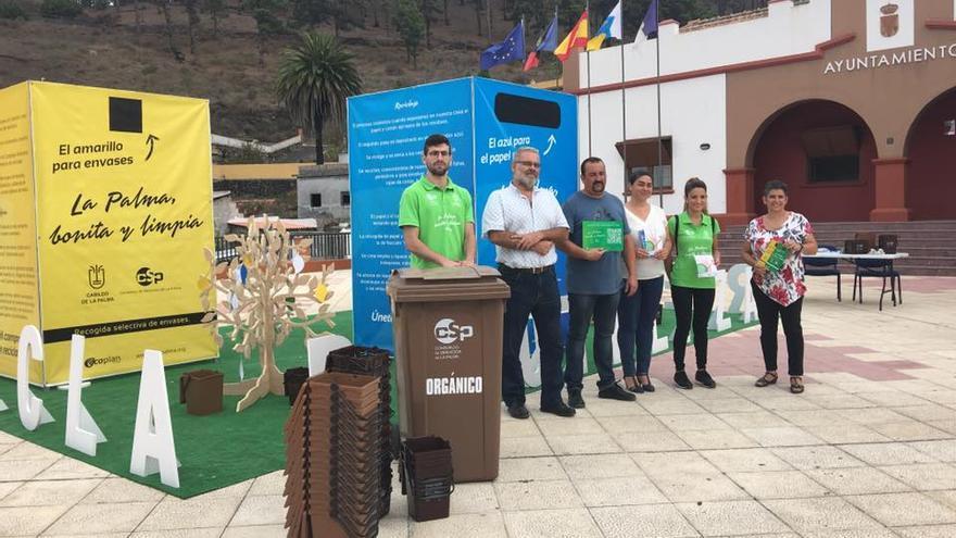 Presentación  en Fuencaliente de la recogida selectiva de residuos orgánicos cuyo destino será la producción de compost.
