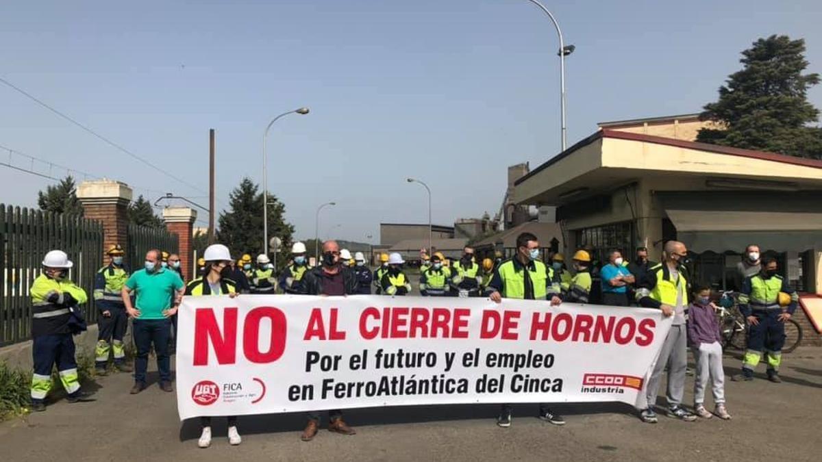 Protestas en Ferroatlántica Monzón