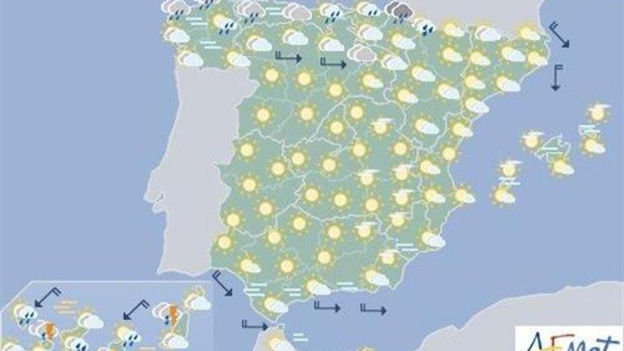 Hoy, chubascos y tormentas en el norte, noreste, Canarias y Baleares