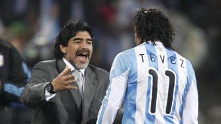Maradona y Tévez