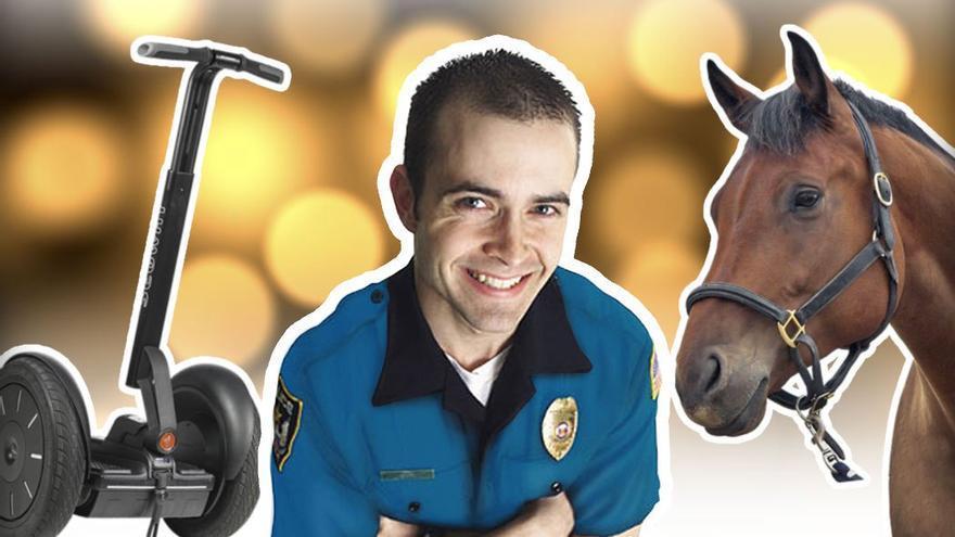 Segways y caballos se suman a las unidades policiales de Las Palmas de Gran canaria.