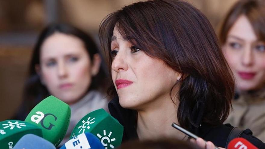 Juana Rivas a la salida de los juzgados