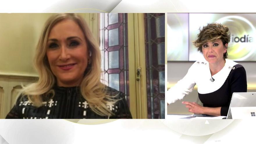Cristina Cifuentes antes Sonsoles Ónega en 'Ya es mediodía'