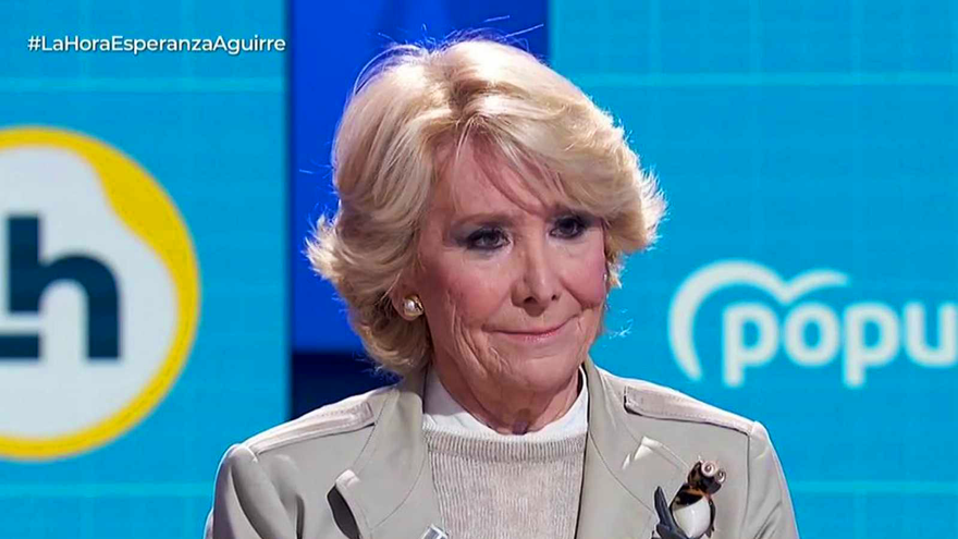 Esperanza Aguirre, en 'La hora de La 1'