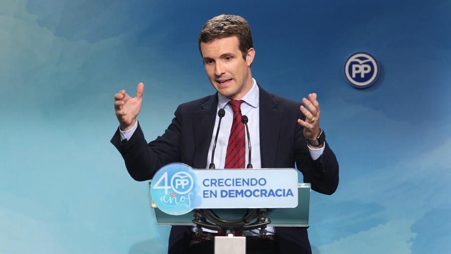 """Casado cree que Cs no crece """"a costa"""" del PP y ve prematuro analizar qué partido capitaliza la gestión en Cataluña"""