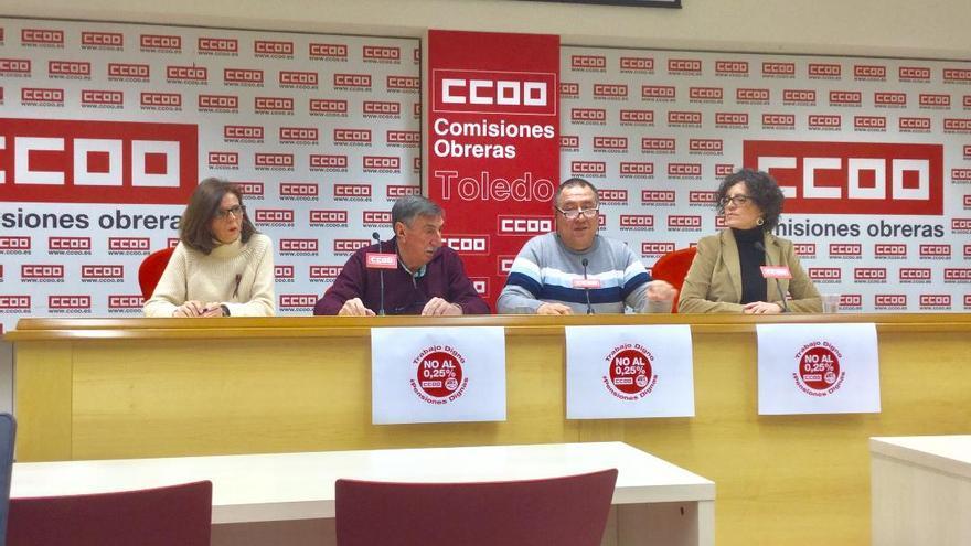 Rueda de prensa de CCOO y UGT