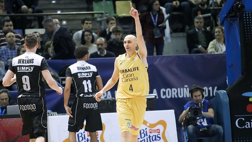 Partido de semifinales de la Copa del Rey entre el Herbalife Gran Canaria y el Bilbao Basket. ACB.