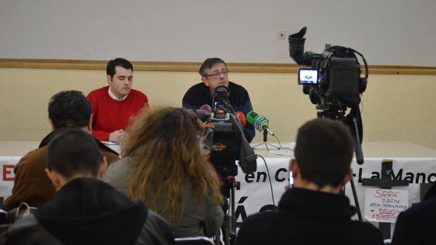 Rueda de prensa de la Plataforma en Defensa de la Ley de Dependencia de Castilla-La Mancha, 2/1/2015 / Foto: Javier Robla