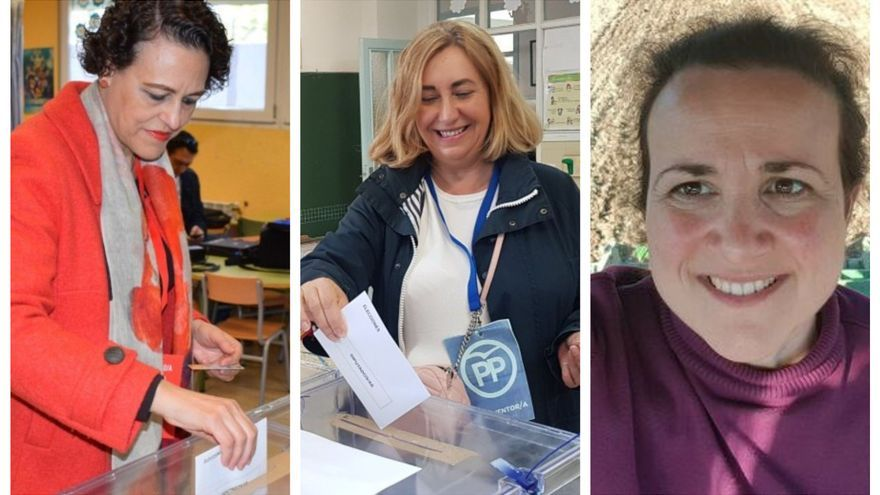 De izquierda a derecha, Magdalena Valerio (PSOE), Silvia Valmaña (PP) y Mª Ángeles Rosado (Ciudadanos)