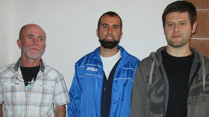 Molina, Hernández y Casanova, de izquierda a derecha, este viernes en la Casa Salazar.