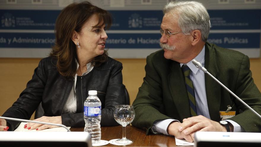 La actual presidenta de la SEPI, Pilar Platero, y el vicepresidente, Federico Ferrer, en marzo de 2015. EFE