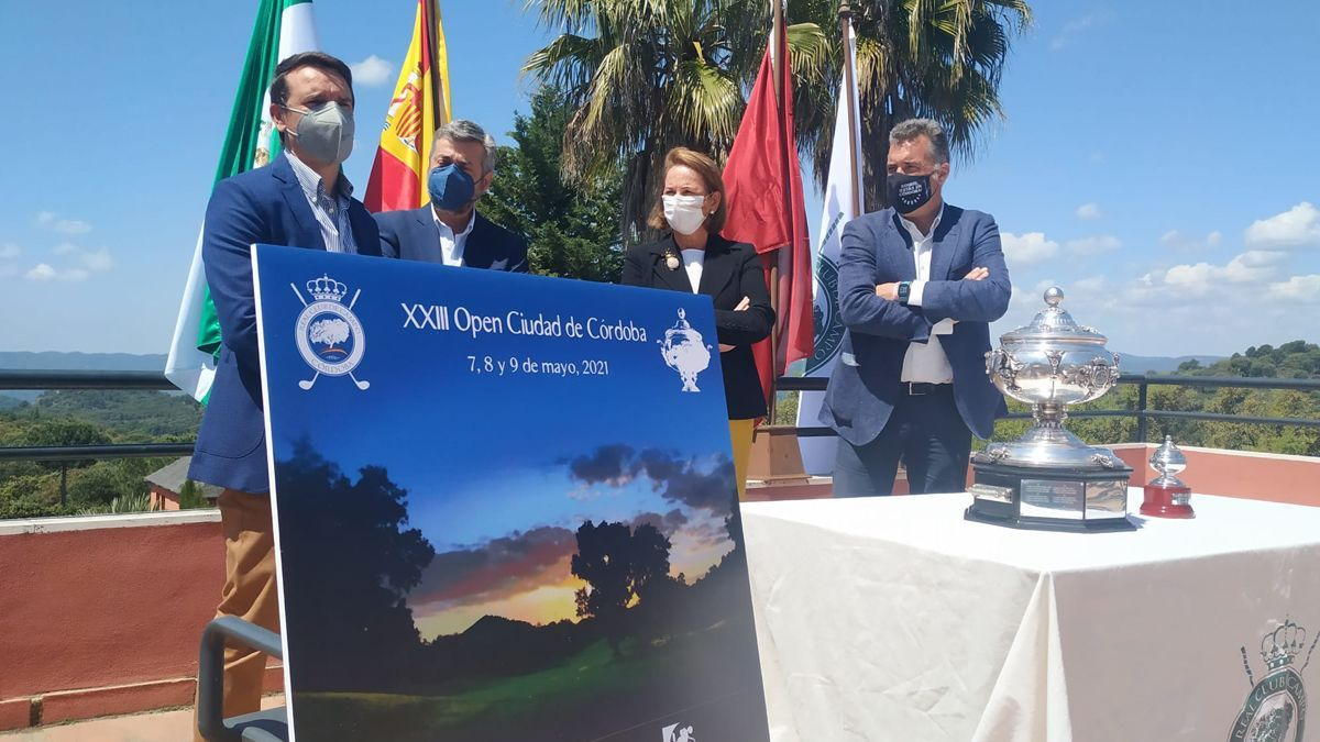 Presentación de la Copa Albolafia de golf de 2021.