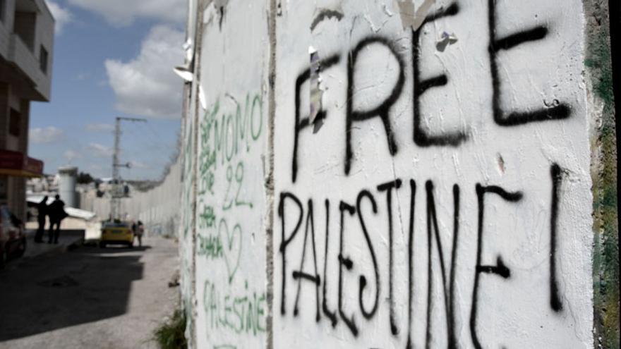 Pintadas por una Palestina libre en el muro de Cisjordania. Palestina / SNM