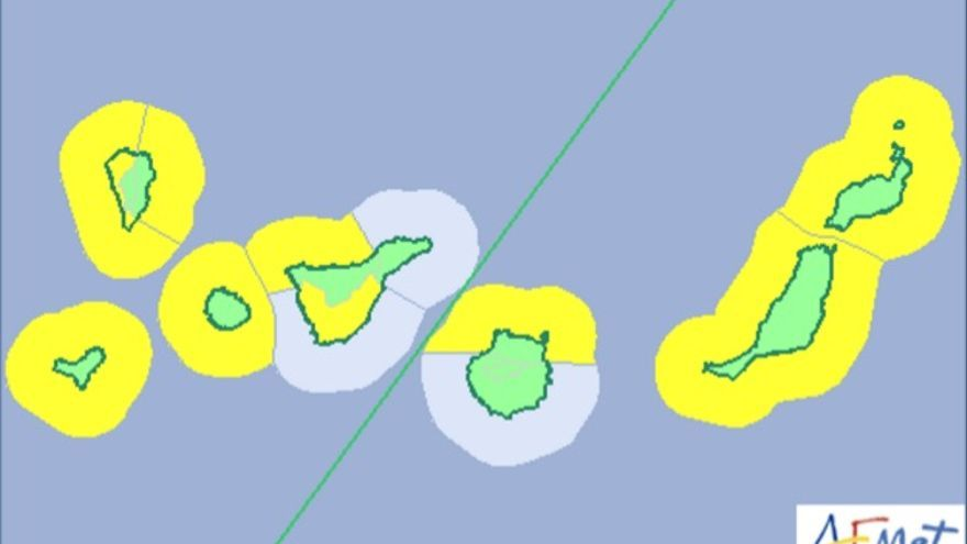 Aviso amarillo este lunes y el martes por olas de cinco metros en Canarias.