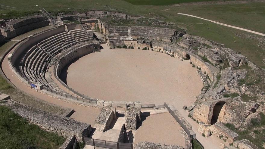 Anfiteatro romano en el Parque Arqueológico de Segóbriga