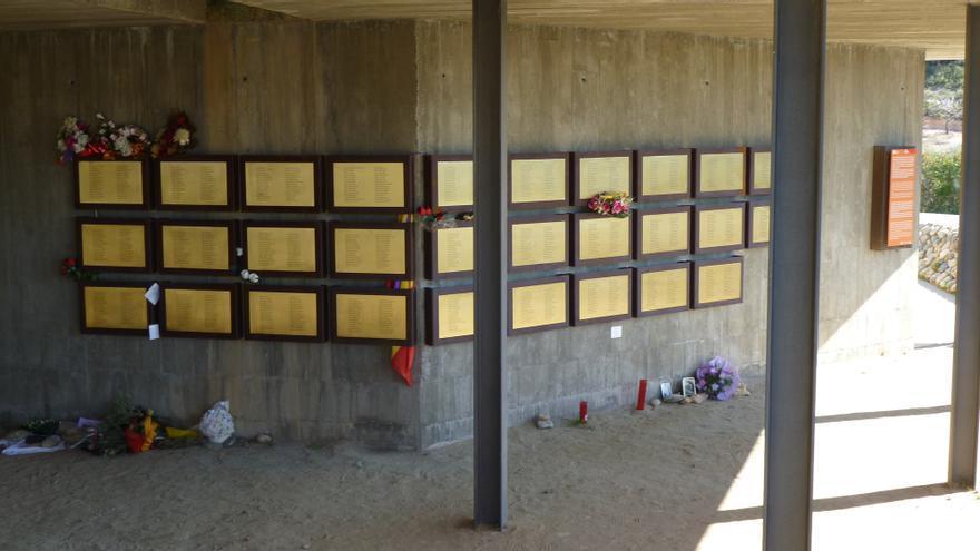 Memorial de Camposines, espacio que hmenajea a los combatientes del Ebro. COMEBE