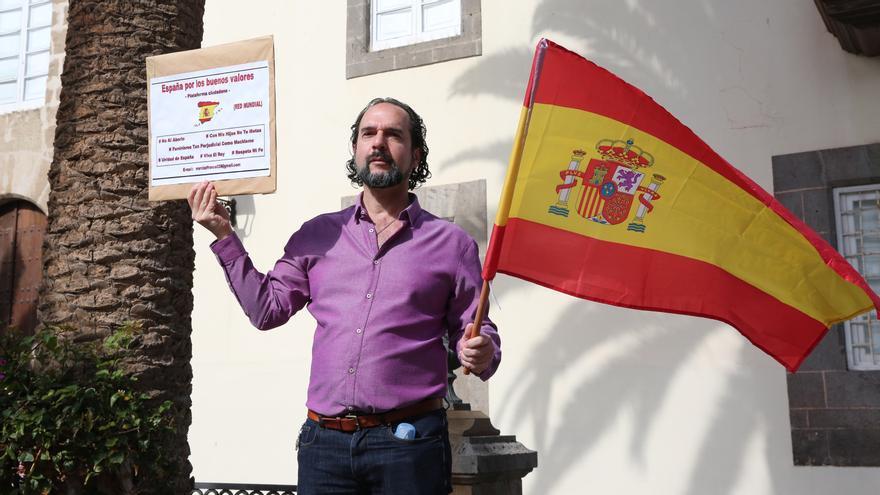 Concentración de Vox en Las Palmas de Gran Canaria