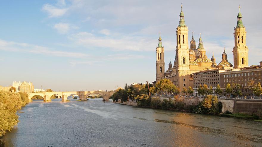 El Ebro a su paso por Zaragoza.