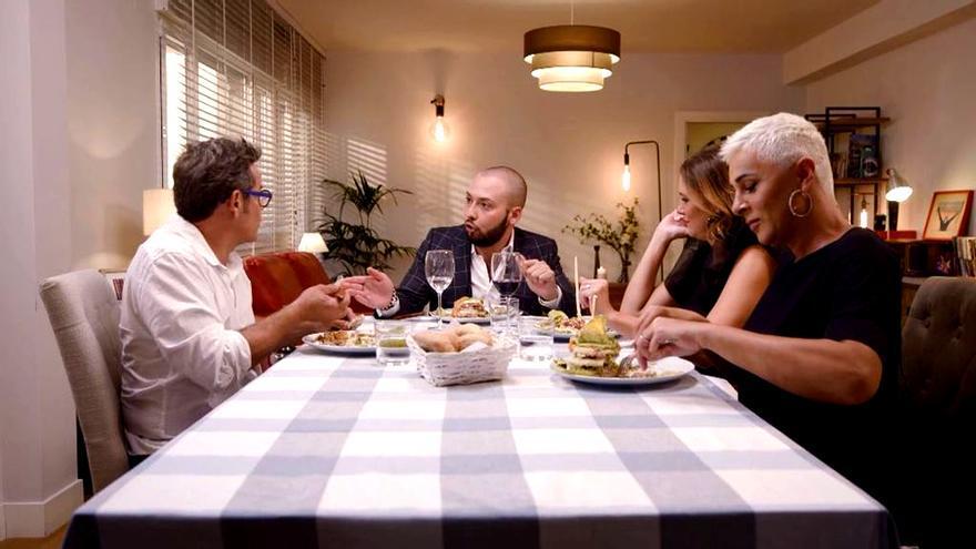 Jorge Sanz y Avilés, discutiendo en 'Ven a cenar: Gourmet Edition'