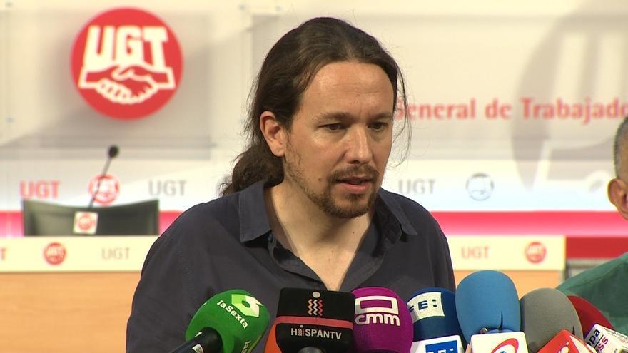 Iglesias espera que la reunión con el PSOE avance hacia la consolidación de una alternativa de Gobierno para echar al PP