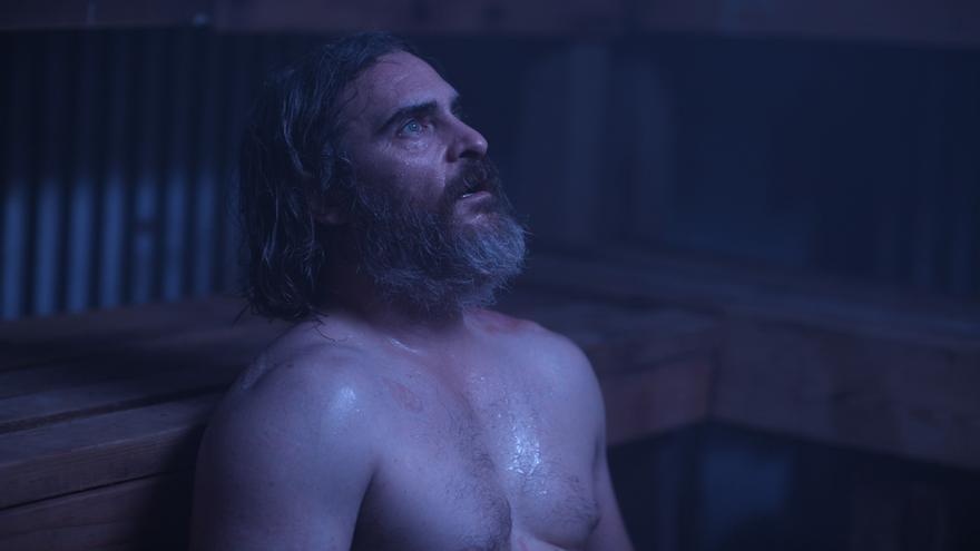 Fotograma de la película 'En realidad nunca estuviste aquí'. con Joaquin Phoenix